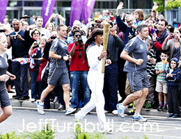 Olympic Torch Relay Chelmsford: Moesha Howard leads the way