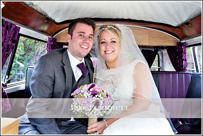 Bride and Groom in Camber Van