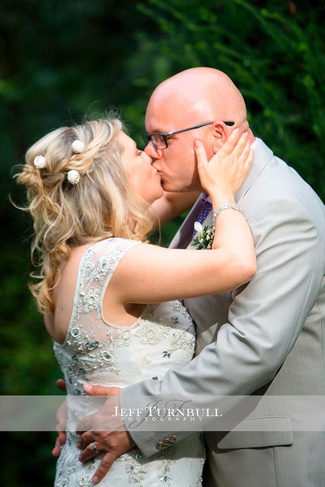 Closeup of Bride and Groom