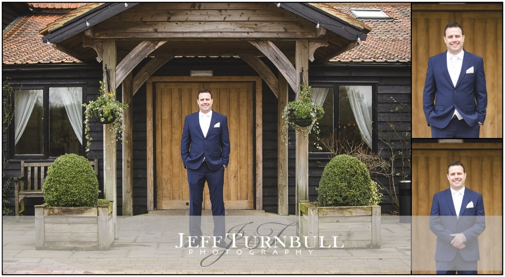 Groom at the entrance of the barn