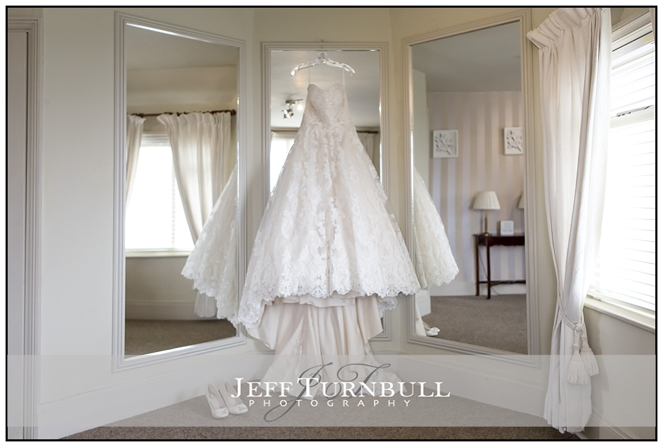 Wedding Dress Hanging Up The Fennes