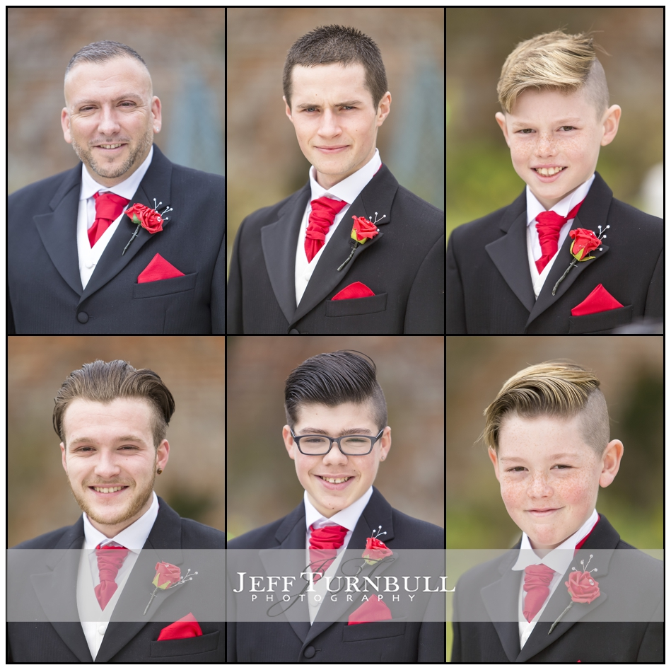 Groom and usher portraits The Fennes