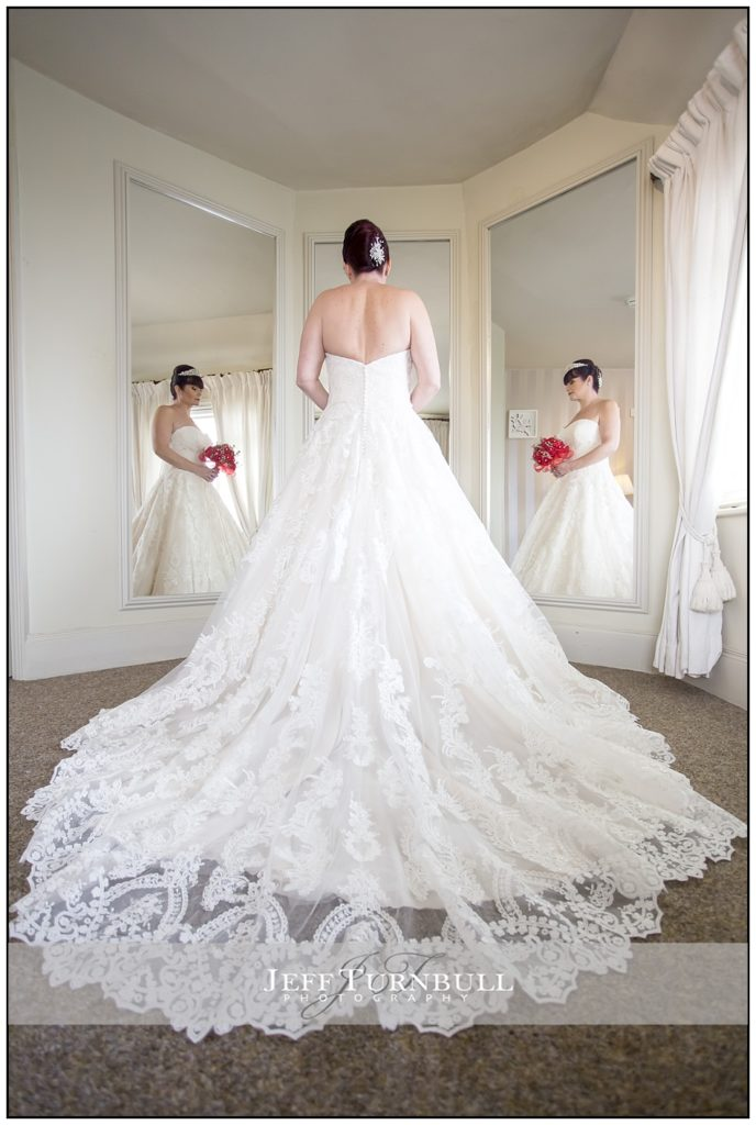Bride in the Bridal Room at the Fennes