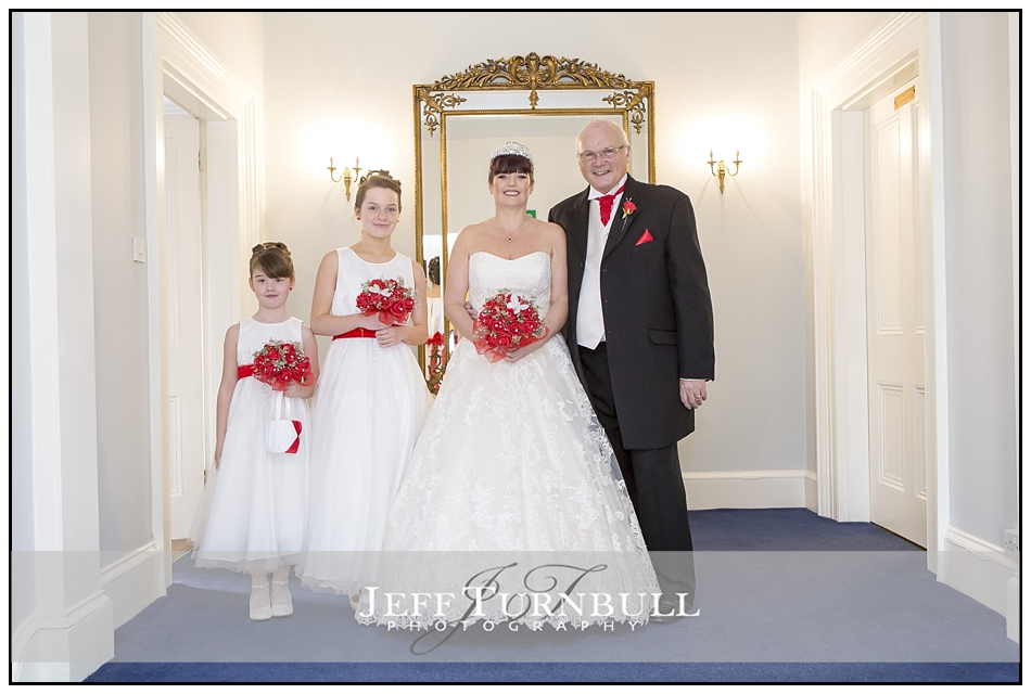 Bride, Father and Bridesmaids