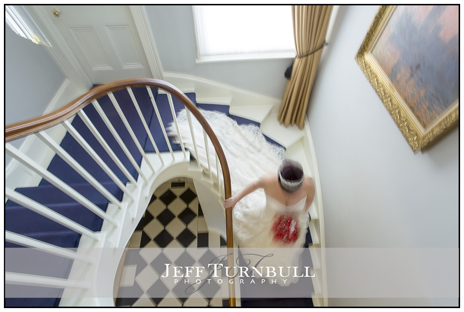 Bride on Staircase at the Fennes