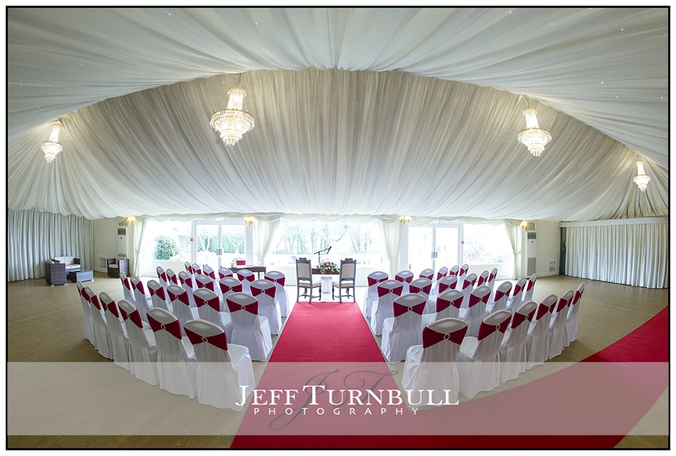 Ceremony room at the Fennes