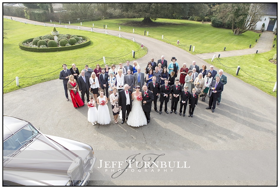 Group photo from window at the Fennes