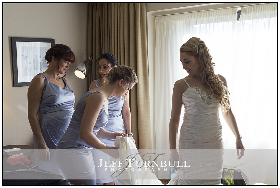 Bride Getting Ready at Five Lakes Hotel