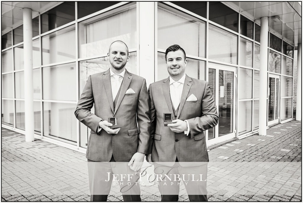 Groom and Best Man at Essex Record Office