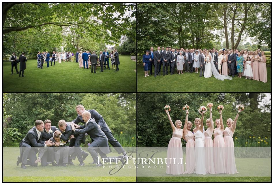 Wedding in the garden at Pontlands Park