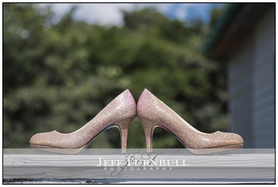 Bride wedding Shoes outside