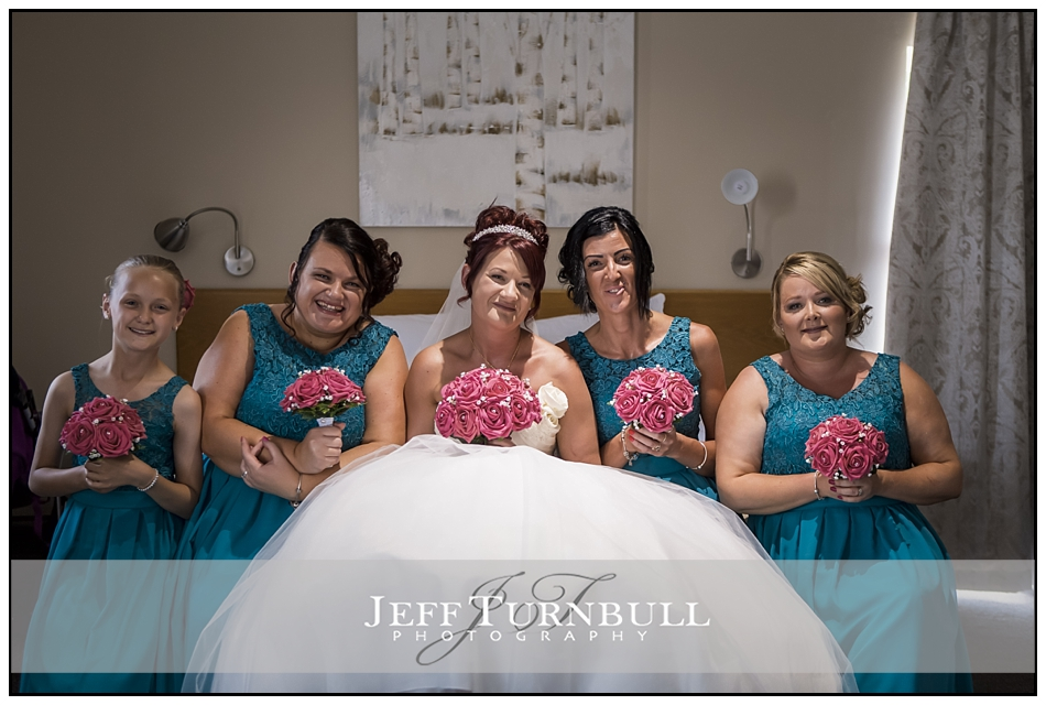 Bride and Bridesmaids at All Saints Hotel