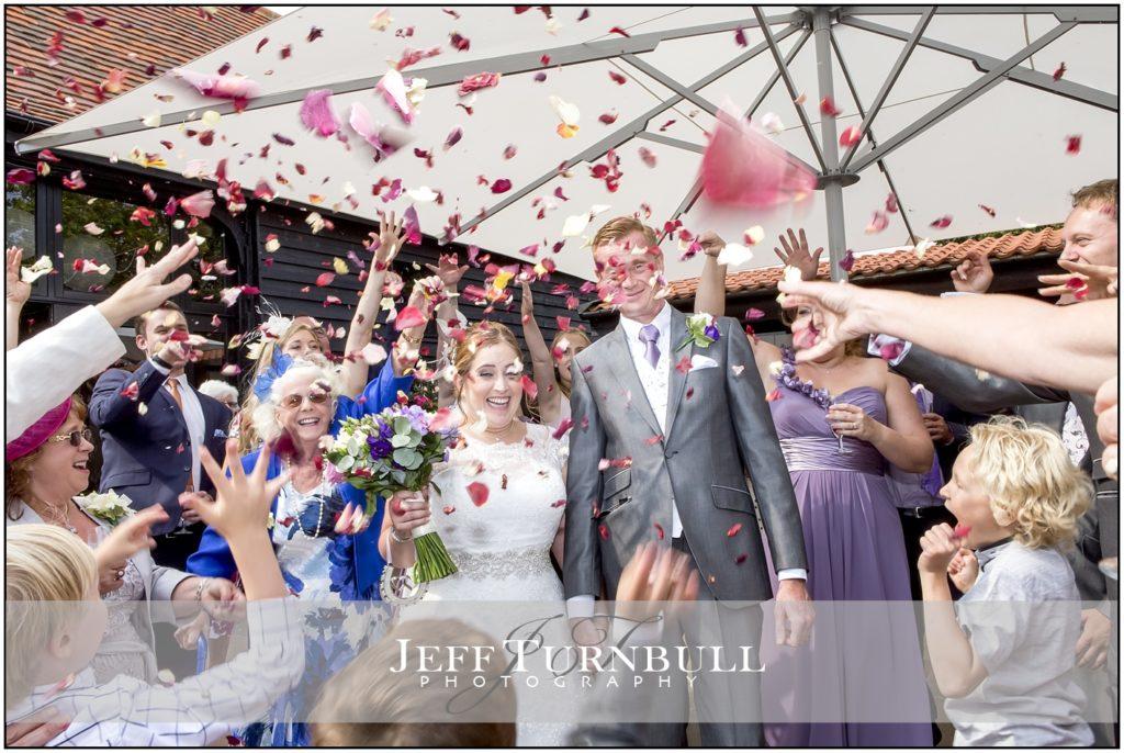 Confetti at High House Weddings
