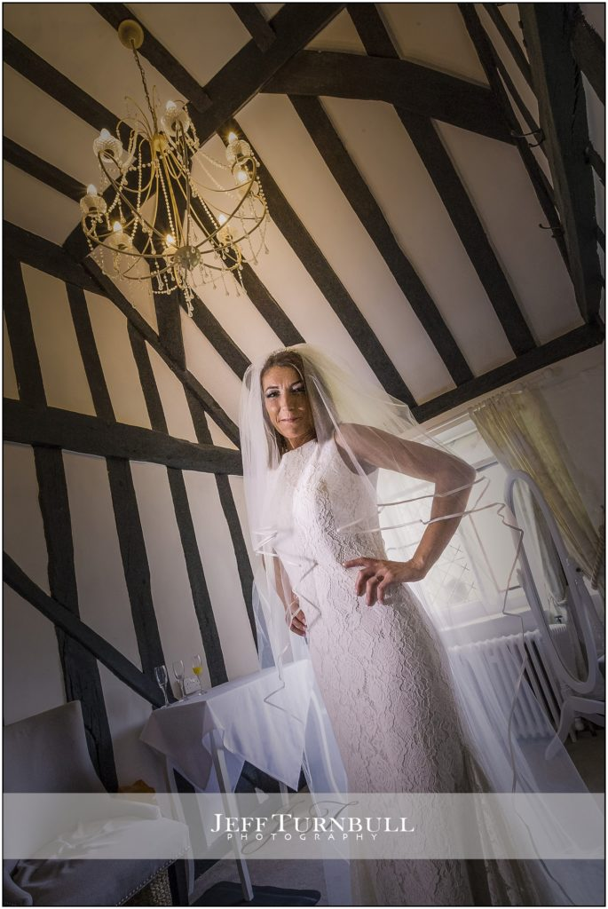 Bride in Her Wedding Dress Leez Priory