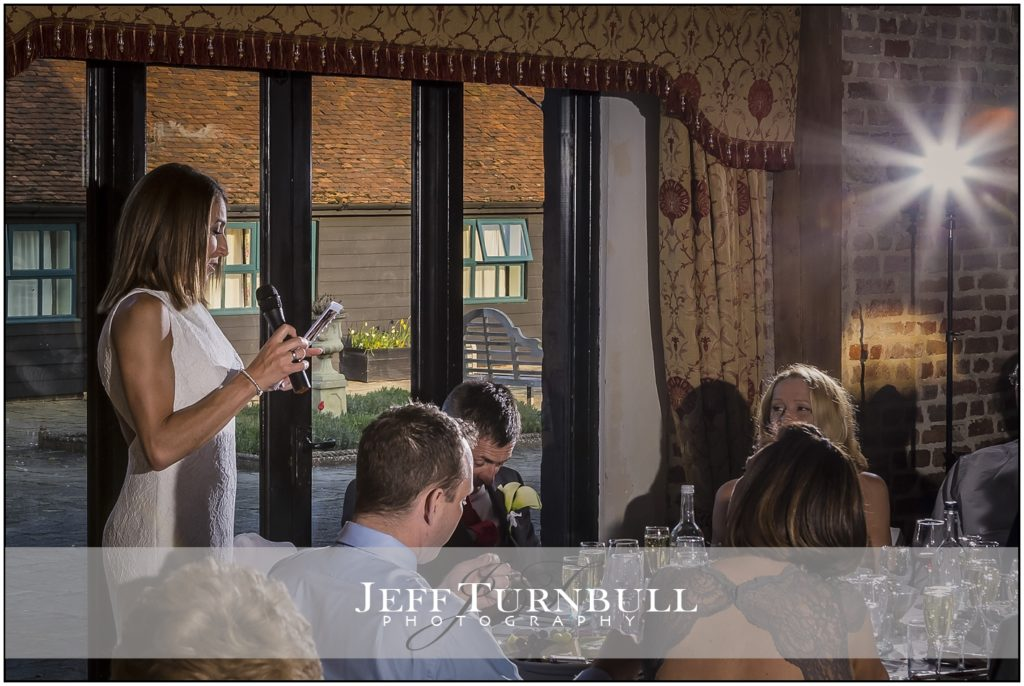 Bride Speech Leez Priory Weddings