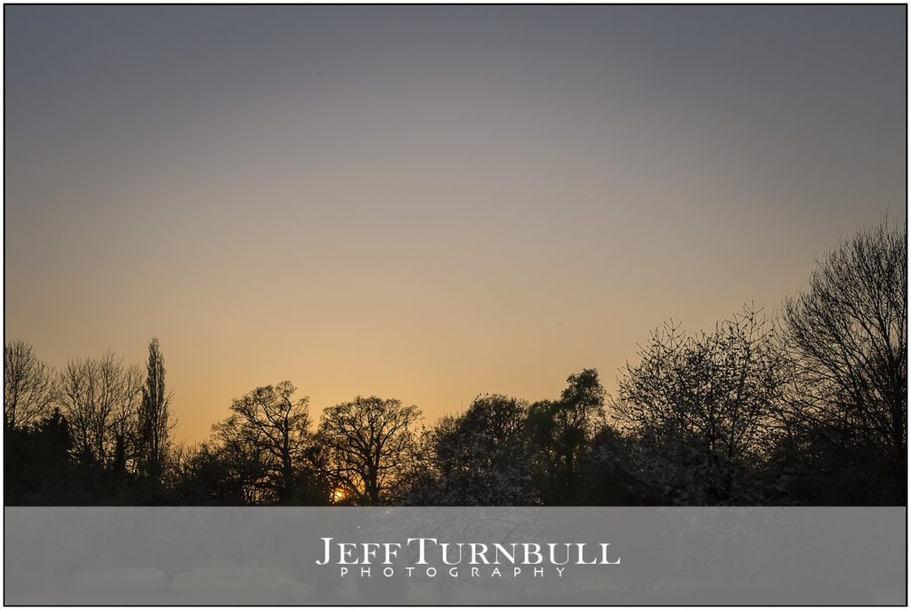 Sunset Wedding Photography Leez Priory