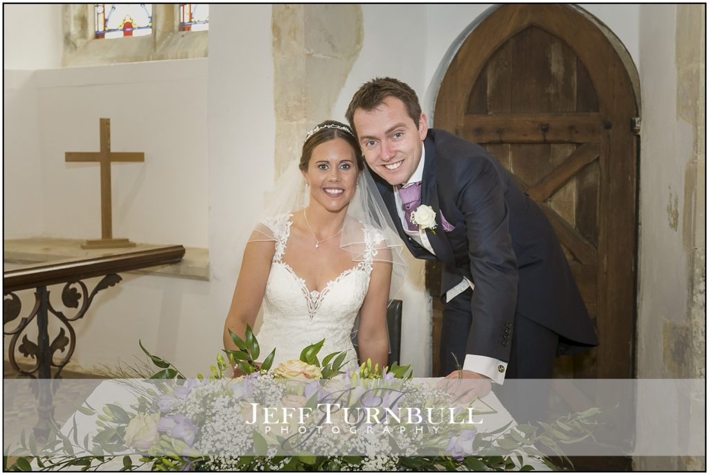 Bride and Groom sign register