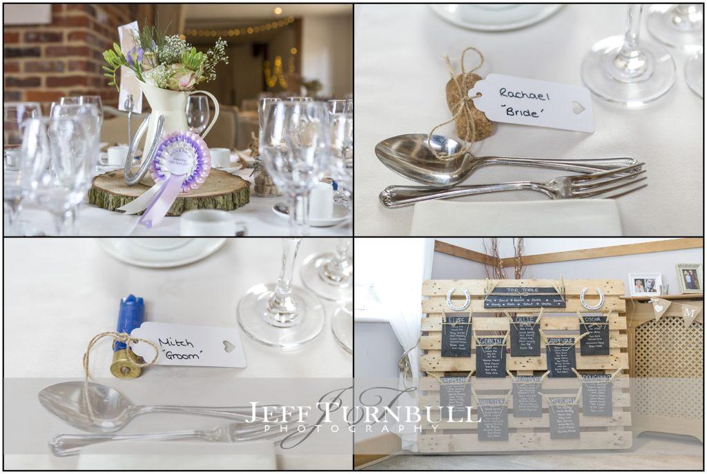 Table Setting Maidens Barn Wedding Venue