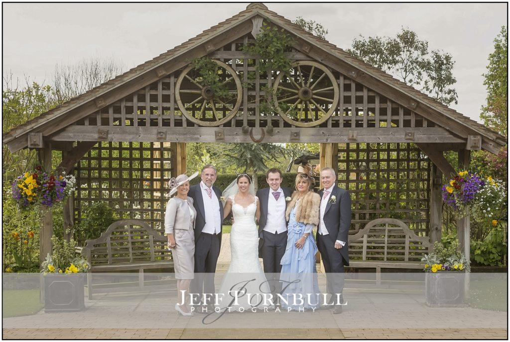Bride and Groom Maidens Barn Wedding Venue