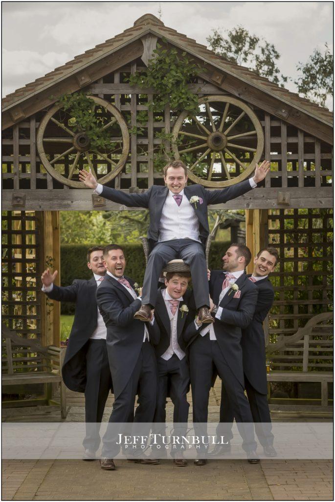 Groomsmen at Maidens Barn Wedding Venue