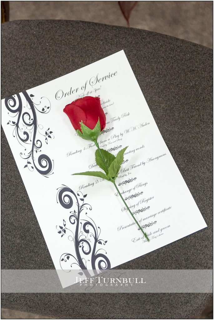 Order of wedding Service Penyard House