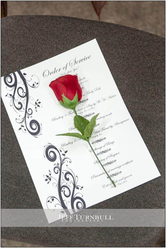 Order of wedding Service Penyard House