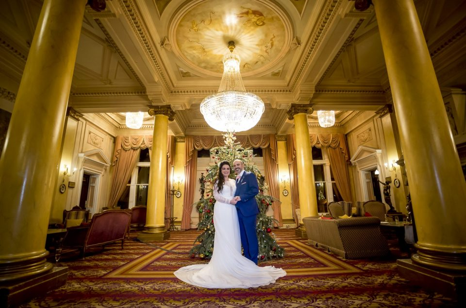 Down Hall Winter Wedding Photography: Lisa and Mark