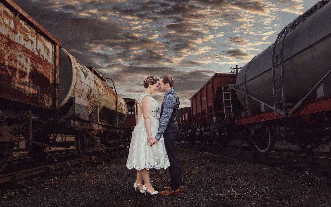 Vintage Wedding Photography | East Anglian Railway Museum