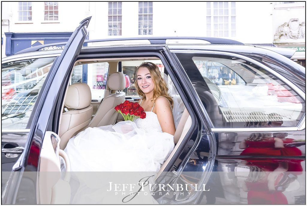 Bride outside Colchester Town Hall