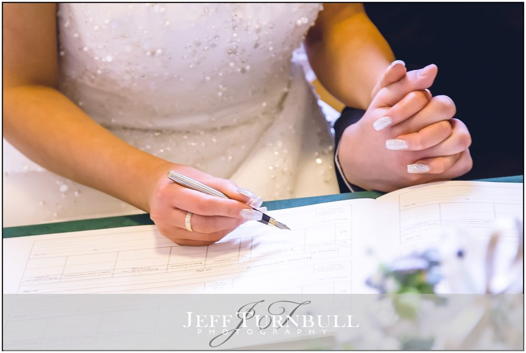 Signing The Register Colchester Town Hall Wedding