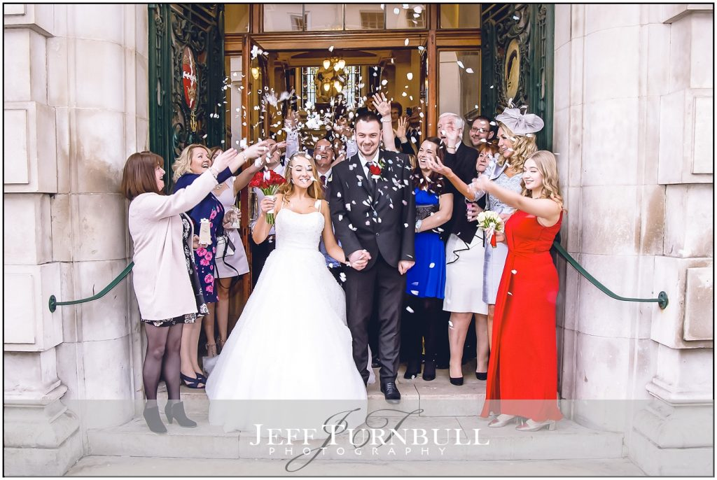 Confetti time Colchester Town Hall Wedding Photography