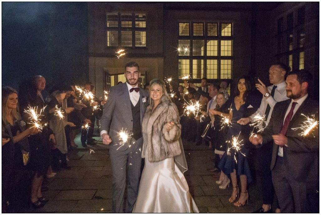 Sparklers Fanhams Hall Wedding