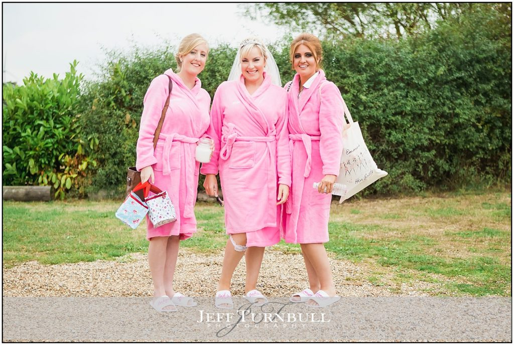 Bridesmaids Wearing Dressing Gowns Friern Manor
