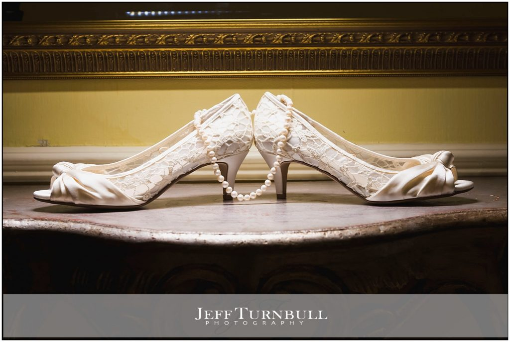 Brides Shoes and Necklace