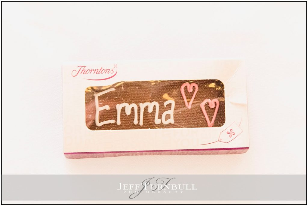 Brides Name in Chocolate