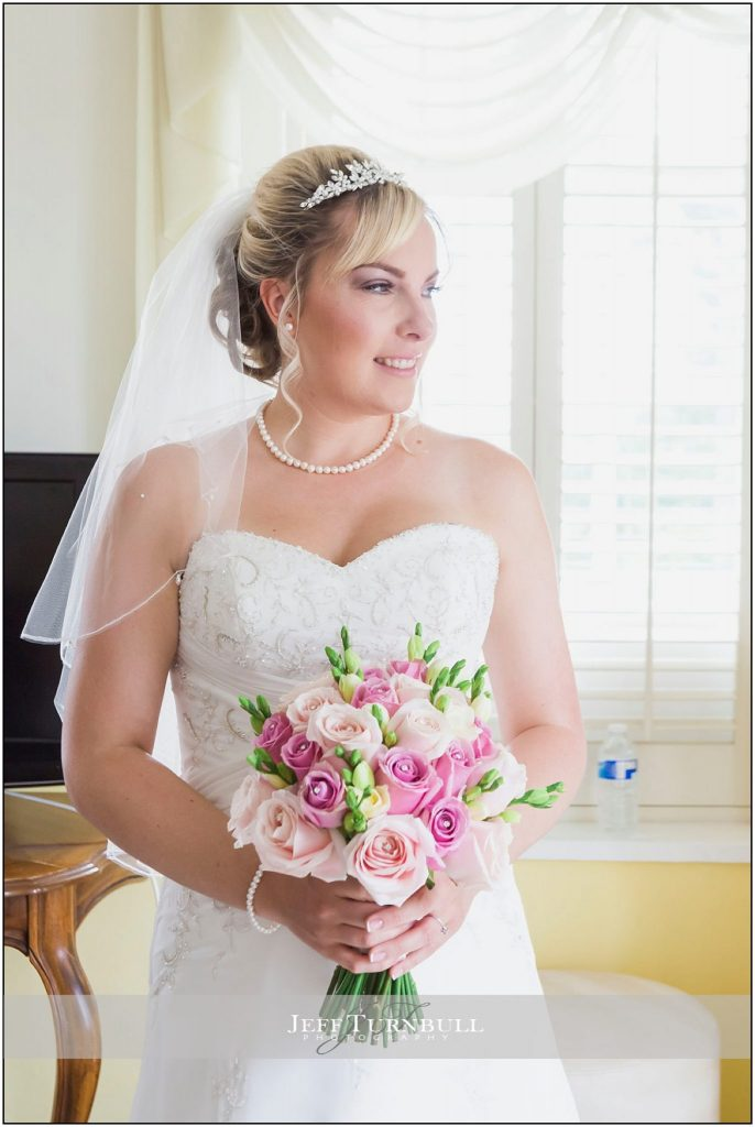 Bride Holding Bouquet Friern Manor