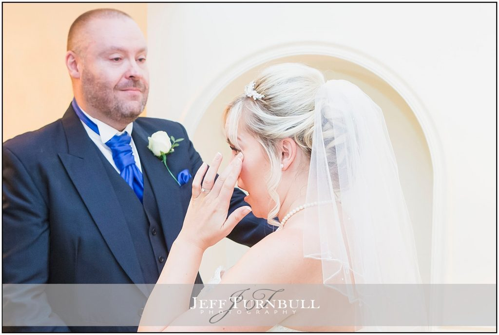 Emotional Bride and Dad