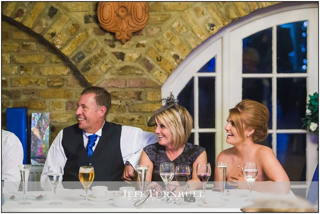 Wedding Guests Laughing Friern Manor Autumn Wedding