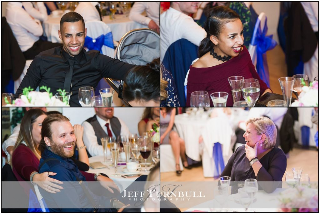 Wedding Guests Laughing Friern Manor Wedding