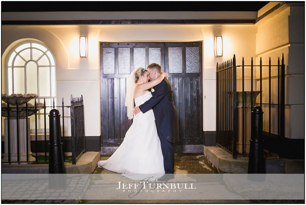 Wedding Couple Kissing Friern Manor Wedding