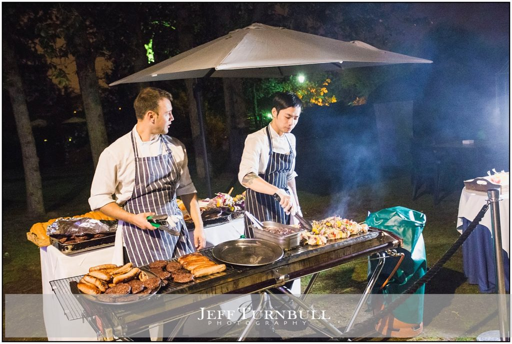 Friern Manor Autumn Wedding Chefs Cooking BBQ