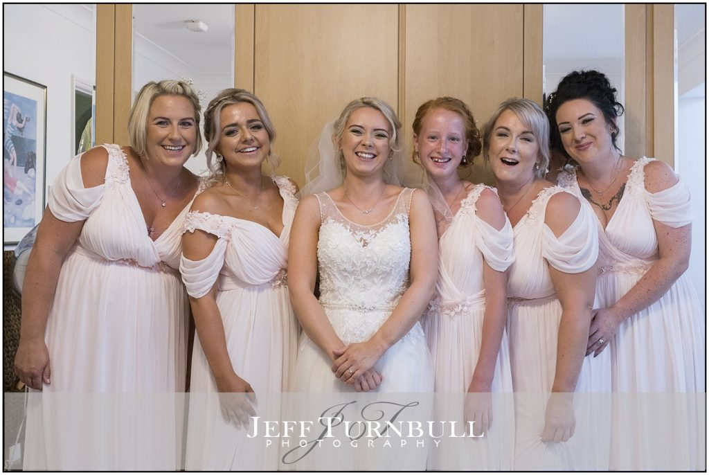 Bride Bridesmaids in Dresses