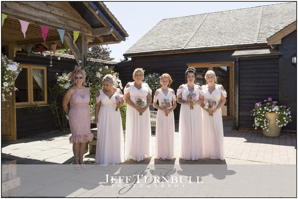 Bridesmaids Maidens Barn Summer Wedding Photography