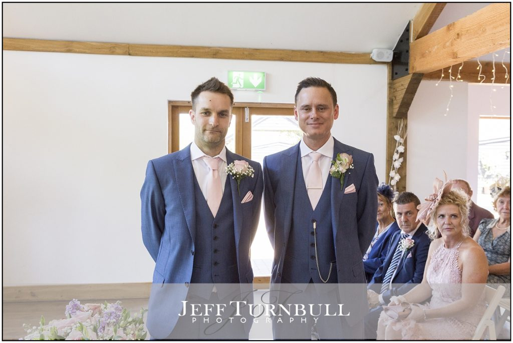 Groom best man Maidens Barn