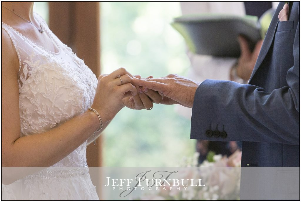 Bride Groom Exchanging Rings