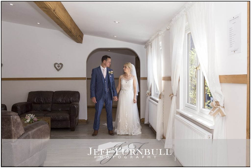Bride Groom Inside Maidens Barn