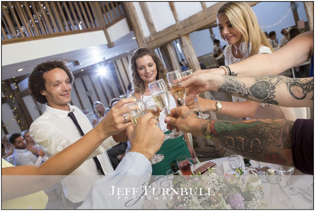 Guests Toasting Maidens Barn
