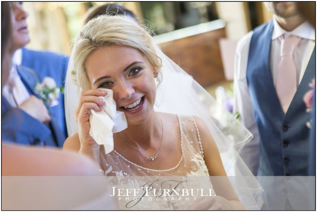 Tearful Bride Maidens Barn Wedding