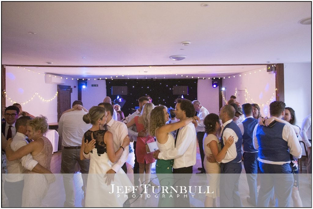 Guests Dancing Maidens Barn Wedding