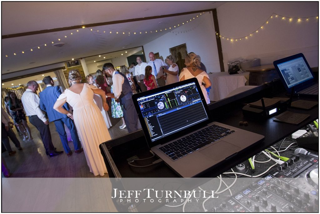 DJ Booth Maidens Barn Wedding